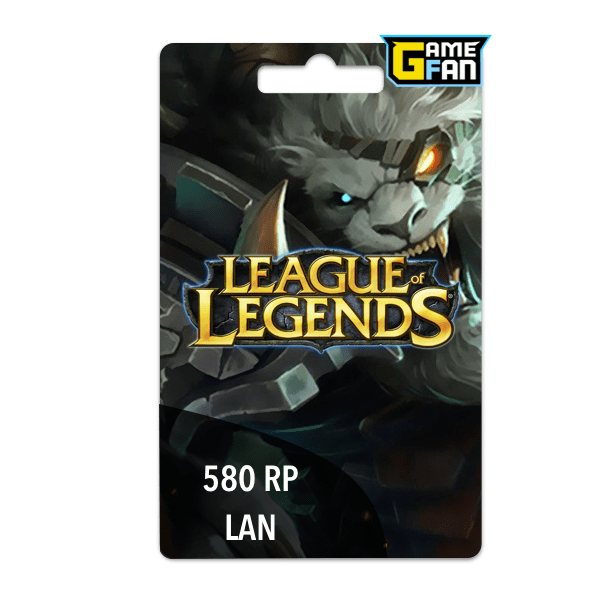 580 Riot Points LAN para Riot Games