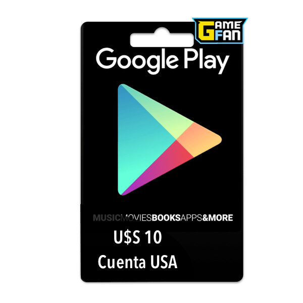 Google Play U$S 10 para Google