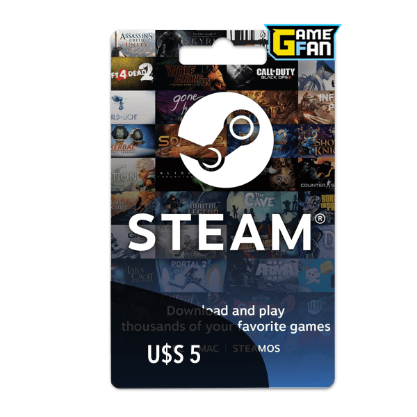Steam Wallet U$S 5 para Valve