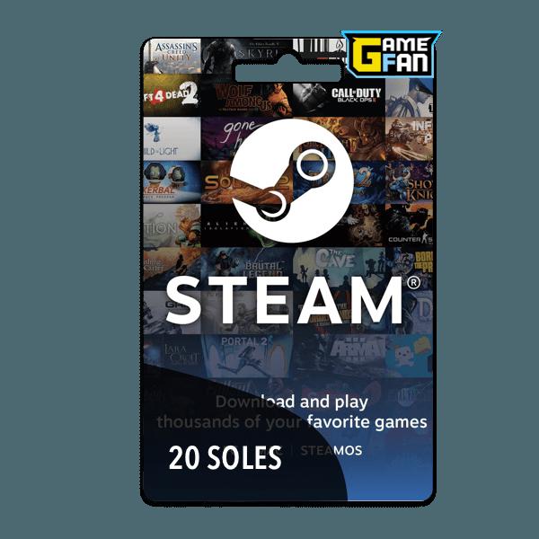 Steam Wallet 20 Soles para Valve