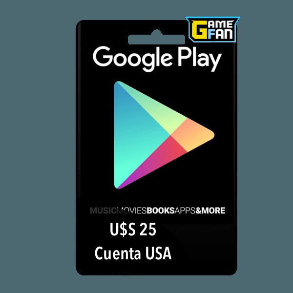 Google Play U$S 25 para Google