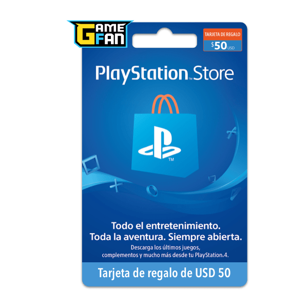 PSN Card x U$S 50 para Playstation