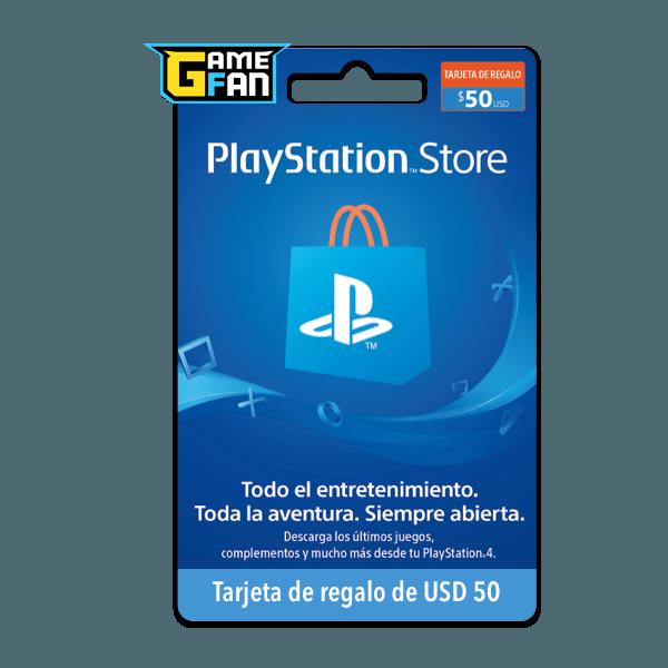 Tarjeta de regalo USD 50 para Playstation