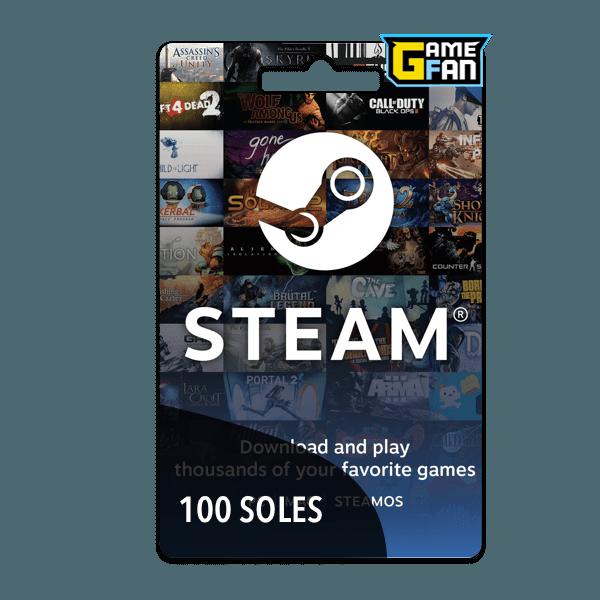Steam Wallet 100 Soles para Valve