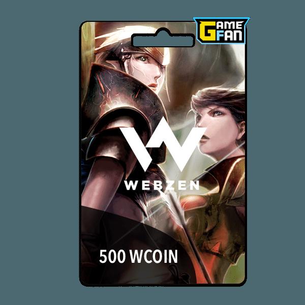 500 WCoin para Webzen