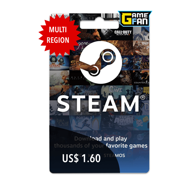 Steam Wallet U$S 1.60 para Valve