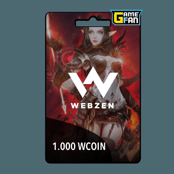 1000 WCoin para Webzen