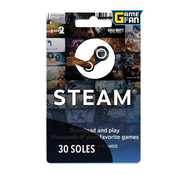 Steam Wallet 30 Soles para Valve