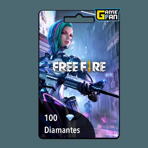 100 diamantes para Garena