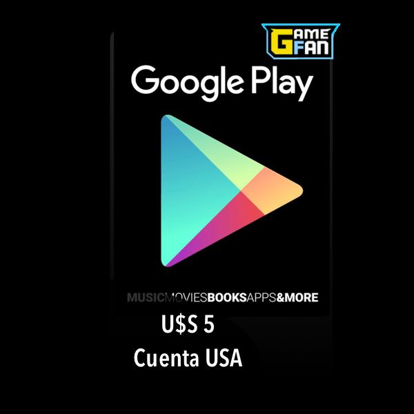 Google Play U$S 5 para Google
