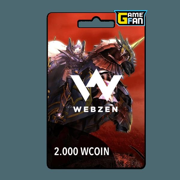 2000 WCoin para Webzen