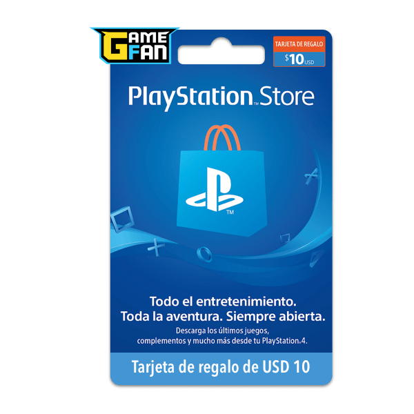 PSN Card x U$S 10 para Playstation