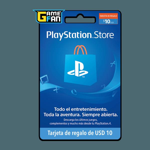 Tarjeta de regalo USD 10 para Playstation